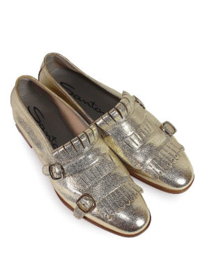 SANTONI: Mocassini e slippers online - Mocassini affusolati pelle laminata