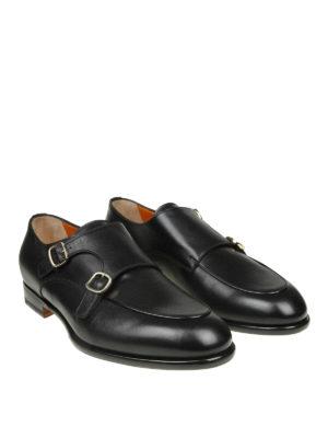 SANTONI: Mocassini e slippers online - Monk strap in pelle con suola antiscivolo