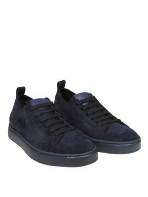 SANTONI: sneakers online - Sneaker basse in camoscio blu