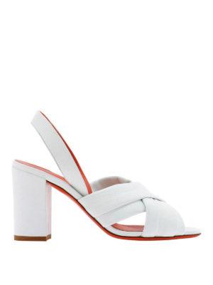 SANTONI: sandals - Leather braided sandals