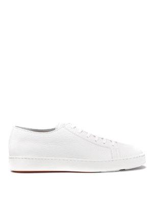 Santoni: trainers - Grainy leather sneakers