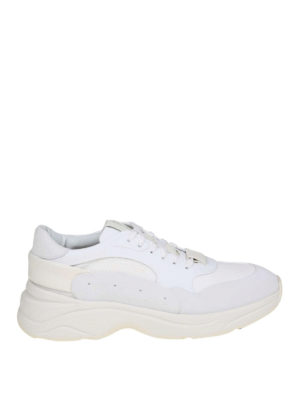 SANTONI  sneakers - Sneaker in pelle e tessuto 4acd152624d