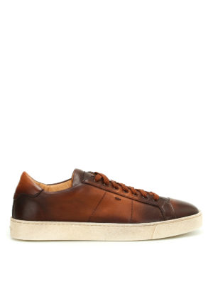 Santoni: trainers - Napa leather low top sneakers