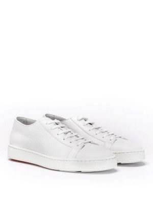 Santoni: trainers online - Grainy leather sneakers