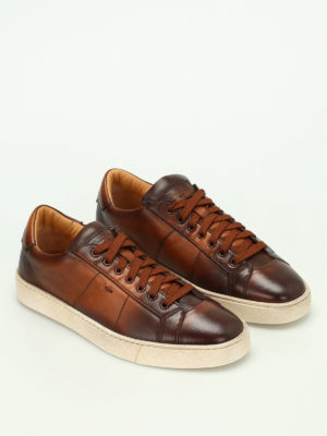 Santoni: trainers online - Napa leather low top sneakers