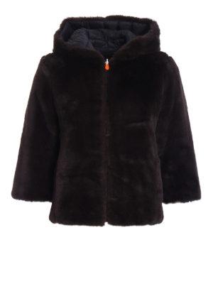 Save the Duck: Fur & Shearling Coats - Faux fur reversible short coat