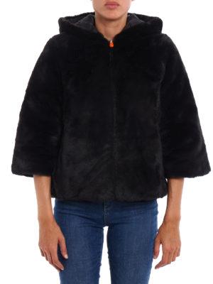 Save the Duck: Fur & Shearling Coats online - Faux fur reversible short coat