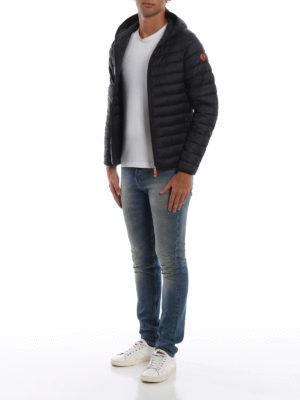 Save The Duck: giacche imbottite online - Piumino leggero con cappuccio nero