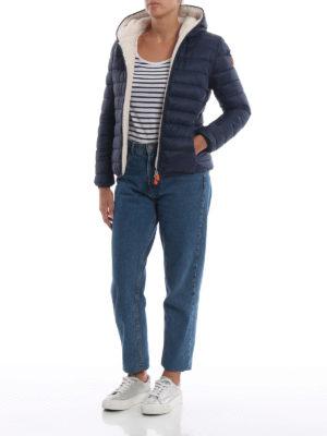 Save The Duck: giacche imbottite online - Piumino in nylon blu con interno soffice