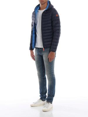 Save The Duck: giacche imbottite online - Piumino leggero con cappuccio blu