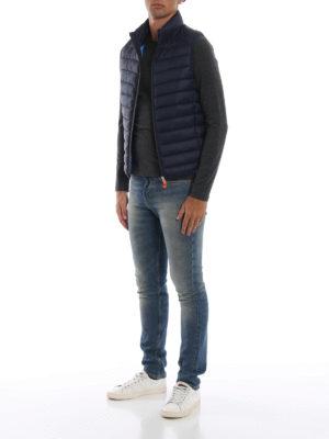 Save The Duck: giacche imbottite online - Gilet imbottito in nylon Giga blu scuro
