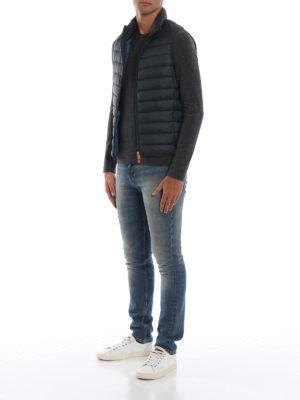 Save The Duck: giacche imbottite online - Gilet imbottito in nylon Giga verde scuro