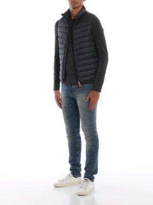 Save The Duck: giacche imbottite online - Gilet imbottito in nylon Giga grigio scuro