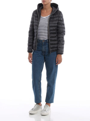 Save The Duck: giacche imbottite online - Piumino leggero grigio scuro con cappuccio