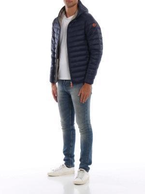 Save The Duck: giacche imbottite online - Piumino blu leggero con cappuccio