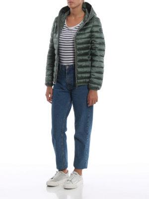 Save The Duck: giacche imbottite online - Piumino leggero verde con cappuccio