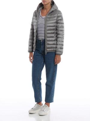 Save The Duck: giacche imbottite online - Piumino leggero grigio con cappuccio