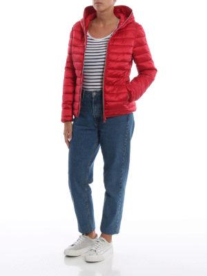 Save The Duck: giacche imbottite online - Piumino leggero rosso con cappuccio