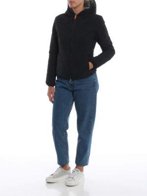Save The Duck: giacche imbottite online - Piumino reversibile impermeabile nero grigio