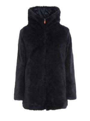 Save The Duck: cappotti imbottiti - Piumino in eco-pelliccia e nylon reversibile