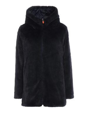Save The Duck: cappotti imbottiti - Piumino reversibile in eco-pelliccia e nylon