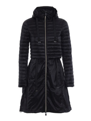 Save the Duck: padded coats - Black puffer jacket light raincoat