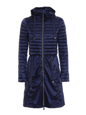 Save the Duck: padded coats - Blue puffer jacket light raincoat