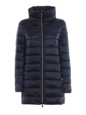 Save The Duck: cappotti imbottiti - Piumino trapuntato blu con collo ad anello