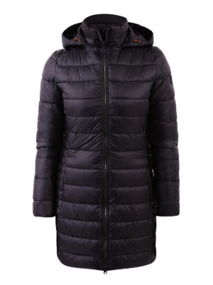 Save the Duck: padded coats - Faux leather panelled padded coat