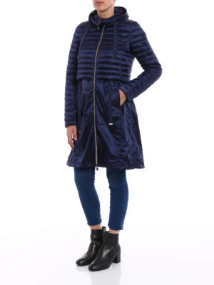 Save the Duck: padded coats online - Blue puffer jacket light raincoat