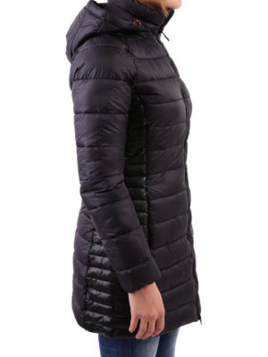 Save the Duck: padded coats online - Faux leather panelled padded coat