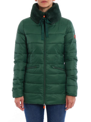 Save the Duck: padded coats online - Short puffer fitted coat