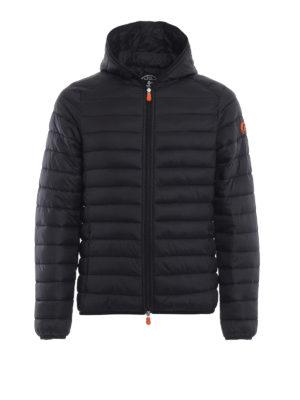 Save The Duck: giacche imbottite - Piumino leggero con cappuccio nero