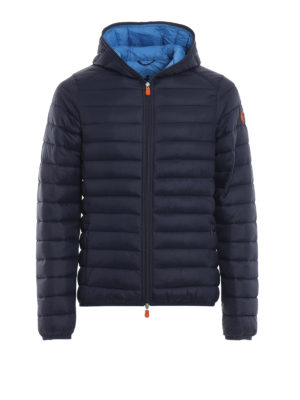 Save The Duck: giacche imbottite - Piumino leggero con cappuccio blu