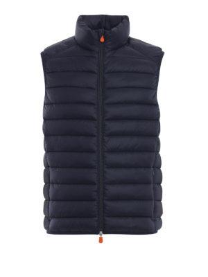 Save The Duck: giacche imbottite - Gilet imbottito in nylon Giga blu scuro