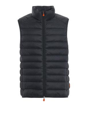 Save The Duck: giacche imbottite - Gilet imbottito in nylon Giga verde scuro
