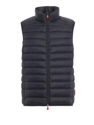 Save The Duck: giacche imbottite - Gilet imbottito in nylon Giga grigio scuro