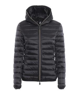 Save The Duck: giacche imbottite - Piumino leggero grigio scuro con cappuccio