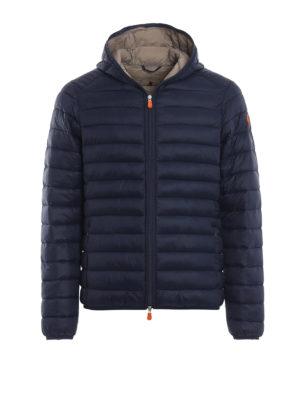 Save The Duck: giacche imbottite - Piumino blu leggero con cappuccio