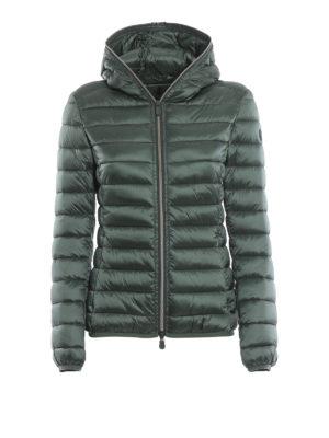 Save The Duck: giacche imbottite - Piumino leggero verde con cappuccio