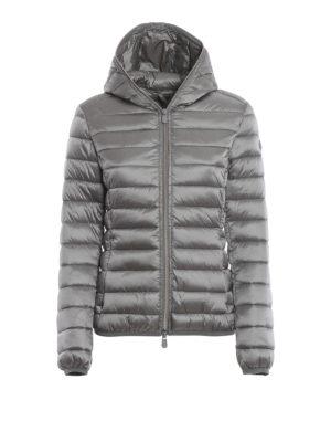 Save The Duck: giacche imbottite - Piumino leggero grigio con cappuccio