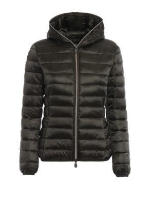 Save the Duck: padded jackets - Iris dark green ultralight jacket