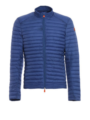Save the Duck: padded jackets - Light blue bomber puffer jacket