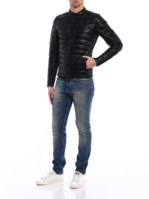 Save the Duck: padded jackets online - Fake leather and nylon biker jacket