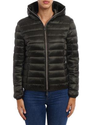 Save the Duck: padded jackets online - Iris dark green ultralight jacket