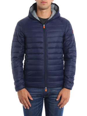 Save the Duck: padded jackets online - Pocketable hooded padded jacket