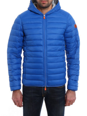 Save the Duck: padded jackets online - Pocketable hooded puffer jacket