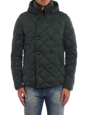 Save the Duck: padded jackets online - Quilted techno fabric peacoat