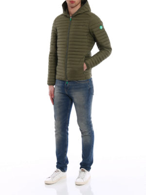 Save the Duck: padded jackets online - Recycled sage green puffer jacket