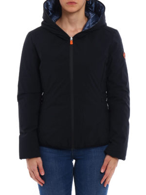 Save the Duck: padded jackets online - Reversible nylon hooded jacket